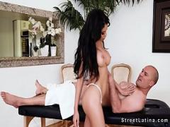 Watch tube video category latina (401 sec). Latina masseuse with huge tits fucking.