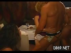Adult amorous video category orgy (299 sec). Slutty drunk beauties letting loose at a party with the dancing bear crew.