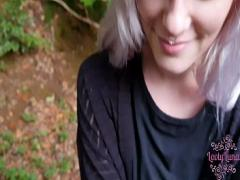 Nice sexual video category teen (423 sec). My first public Blowjob !.