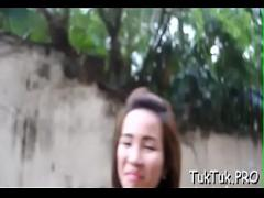 Genial amorous video category blowjob (310 sec). Fingering hairy thai pussy.