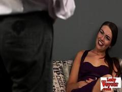 Watch erotic category bdsm (300 sec). Voyeur babe leers at masturbating cfnm.
