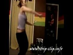 Genial film category teen (199 sec). Hot girl undressed and dancing very hot! Nice ass shaking!.