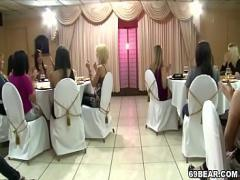 Watch x videos category orgy (126 sec). Crazy women suck male strippers at CFNM party.