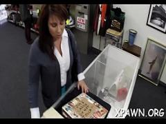 Full video category blowjob (300 sec). Outstanding little slut is in the shop having some sex in shop.