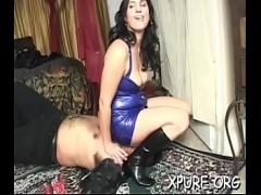 18+ video list category bdsm (309 sec). Sexy trampling action with a cutie tying her weak man up.
