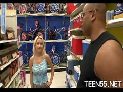 XXX tube video category teen (322 sec). The fantasy of the teen turned out to be too large for her pussy.