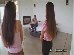 Play porno category teen (424 sec). 3 gamer chicks sharing cock.