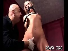 Good porno category bdsm (307 sec). Overweight girl gets her tight pussy examined thoroughly.