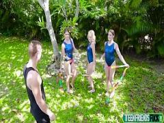 Sexy porno category cumshot (466 sec). Lea Lee, Kenzie Madison, Katie Kush In Gymnas Fucking Dick Training.