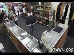 Nice tube video category blowjob (300 sec). Astonishing little bimbo is making a reality sex video in shop.