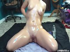 Watch pornography category big_ass (336 sec). Oiled Chubby Teen Masturbating For Cocks.