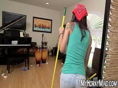 Download erotic category teen (300 sec). Pretty young maid takes care of big dick for more money.