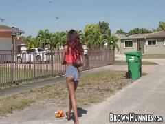 Sex seductive video category teen (300 sec). Exotic Demi Sutra swallows dick before penetration.