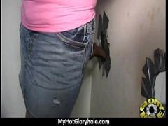 Watch video link category blowjob (301 sec). Huge Tit Babe Deepthroats Gloryhole DIck 2.